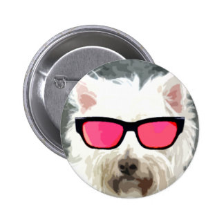 Roger the dog pinback button
