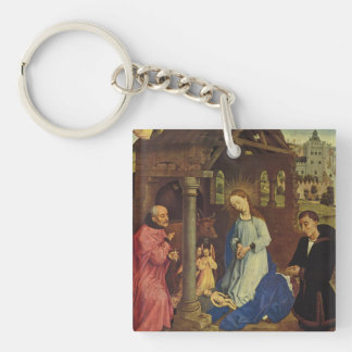 Roger Weyden Painting Keychain