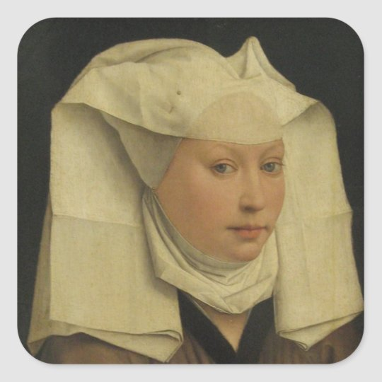 Roger Weyden Painting Square Sticker