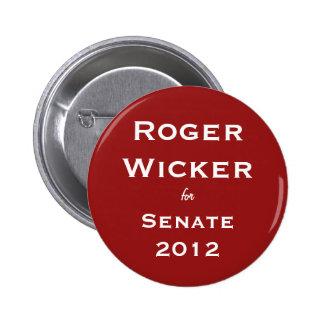 Roger Wicker for Senate 2012 Pinback Button