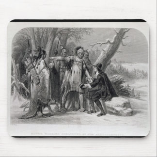 Roger Williams sheltered by the Narragansetts Mouse Pad