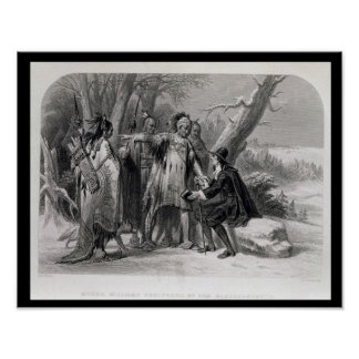 Roger Williams sheltered by the Narragansetts Poster