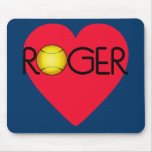 ROGER with Heart and Tennis Ball Mouse Pad