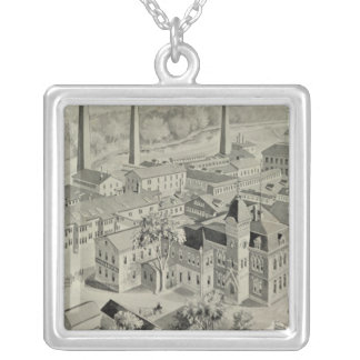 Rogers & Bro works Square Pendant Necklace