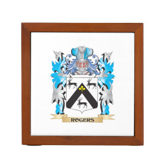 Rogers Coat of Arms - Family Crest Desk Organizer