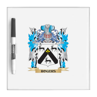 Rogers Coat of Arms - Family Crest Dry-Erase Board