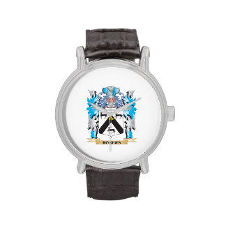 Rogers Coat of Arms - Family Crest Wrist Watches