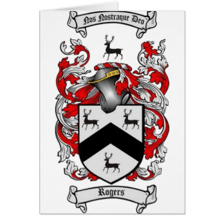 ROGERS Family Crest Card