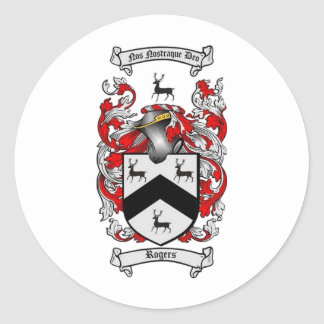 ROGERS Family Crest Classic Round Sticker