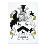 Rogers Family Crest Personalized Announcement