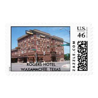 ROGERS HOTEL WAXAHACHIE TEXAS STAMP