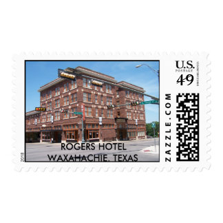 ROGERS HOTEL WAXAHACHIE, TEXAS STAMP
