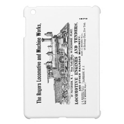 Rogers Locomotive Works 1870 Cover For The iPad Mini