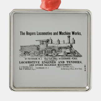 Rogers Locomotive Works 1870 Metal Ornament