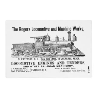 Rogers Locomotive Works 1870 Placemat
