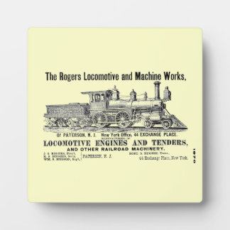 Rogers Locomotive Works 1870 Plaque