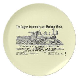 Rogers Locomotive Works Plate