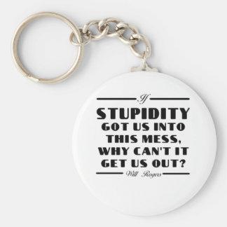 Rogers on Stupidity Keychain