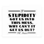 Rogers on Stupidity Post Cards