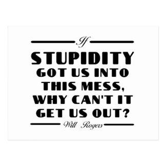 Rogers on Stupidity Postcard