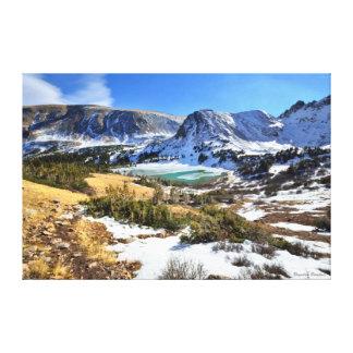 Roger's Peak Lake in Winter Canvas Print