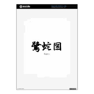 Rogers translated into Japanese kanji symbols. Decal For iPad 2