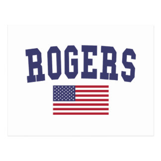 Rogers US Flag Postcard
