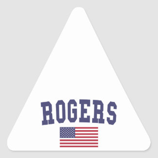 Rogers US Flag Triangle Sticker