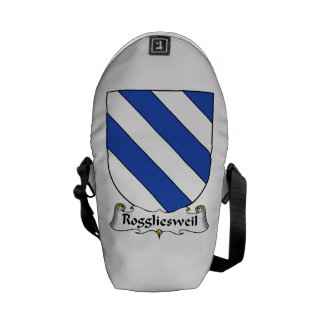 Roggliesweil Family Crest Courier Bags