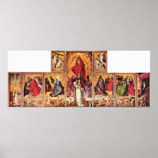 Rogier van der Weyden - Altar of Last Judgement Poster