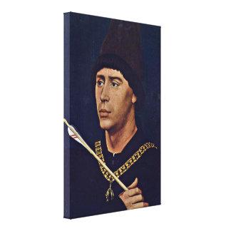 Rogier van der Weyden - Anthony of Burgundy Canvas Print