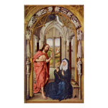 Rogier van der Weyden - Christ appears to Mary Posters