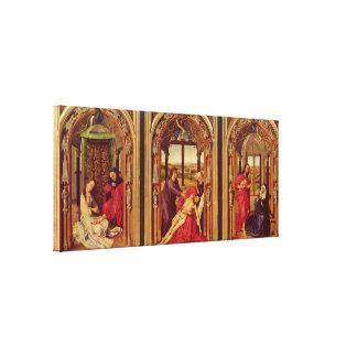 Rogier van der Weyden - Marie altar triptych Canvas Print