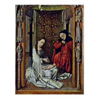 Rogier van der Weyden - nacimiento de Cristo Póster