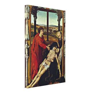Rogier van der Weyden - Pieta Gallery Wrap Canvas
