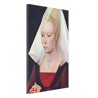 Rogier van der Weyden - Portrait of a Lady Canvas Print