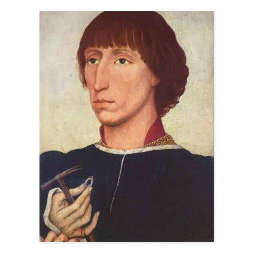 Rogier van der Weyden-Retrato del d'Este de Franci Tarjetas Postales