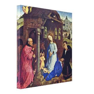 Rogier van der Weyden - The Nativity Gallery Wrapped Canvas