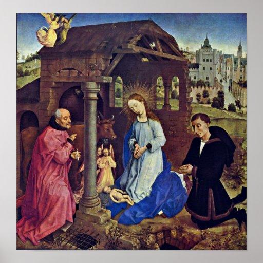 Rogier van der Weyden - The Nativity Poster