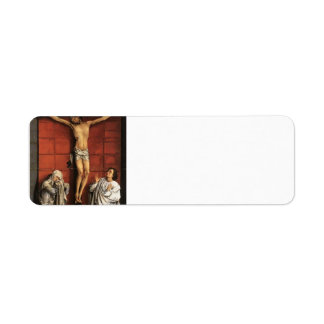 Rogier Weyden:Christ on Cross with Mary & St. John Return Address Label