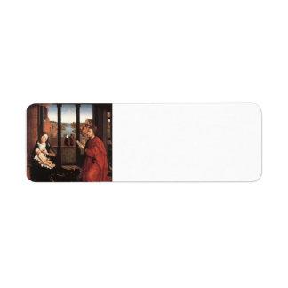 Rogier Weyden- St Luke que dibuja un retrato de Ma Etiqueta De Remite