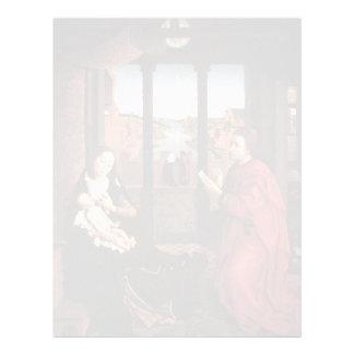 Rogier Weyden- St Luke que dibuja un retrato de Ma Membrete A Diseño