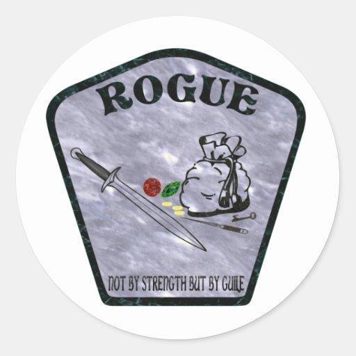 Rogue Classic Round Sticker