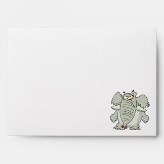 rogue mad angry elephant cartoon envelopes