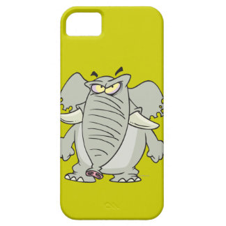 rogue mad angry elephant cartoon iPhone 5 cases