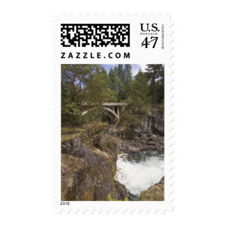 Rogue river and bridge, Prospect, Oregon Postage