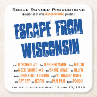 Rogue Runners - Chicago (coaster) Square Paper Coaster