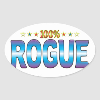 Rogue Star Tag v2 Oval Stickers