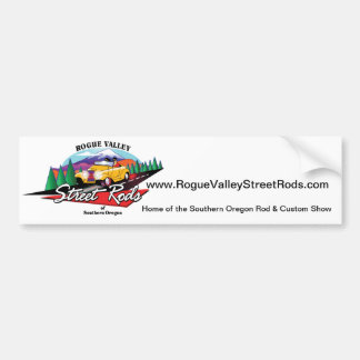 Rogue Valley Street Rods Custom Club Southern OR Bumper Sticker