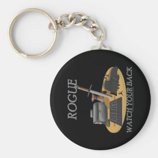 Rogue: Watch Your Back Keychain